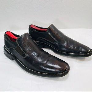 Cole Haan pebbled leather brown dress Loafers 10M